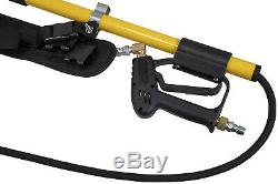 12' Fiberglass Telescoping Wand 3800 PSI for Cold Water Pressure Washer and Belt