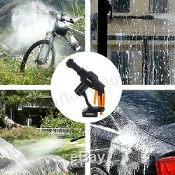 130PSI 18V Pro Cordless High Pressure Cleaner Washer Gun Water Hose Nozzle Pump