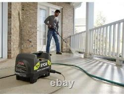 1600 PSI ELECTRIC PRESSURE WASHER RYOBI 1.2 GPM Power Washer with Turbo Nozzle