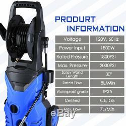2030PSI 1.3GPM Electric Pressure Washer High Power Water Sprayer Cleaner Machine