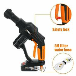 20V Cordless High Pressure Cleaner Washer Gun Water Hose Nozzle Pump Rechargeble