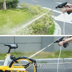 21V Wireless Car Wash Water Spray Gun High Pressure Portable + 15000mAh Battery