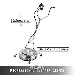 21 Flat Surface Cleaner Stainless Steel Hot Cold Water Pressure Washer Wheels