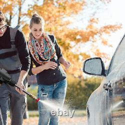 24V Portable Cordless Car Wash Hose Set High Pressure Watering Nozzle Gun Spray