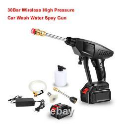 25V Portable Car Wash Hose Set High Pressure Watering Gun Pump Spray For