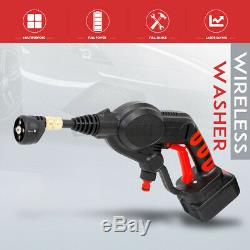 2.6MPa Wireless High Pressure Car Washer Watering 4 Nozzles Tip 6m Pipe Filter