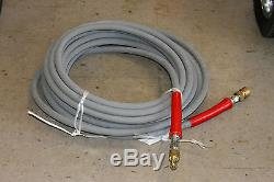50' Hot Water Pressure Washer Hose with Quick Connects 6000 PSI 3/8
