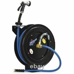 BluBird BSWR5850 Garage Industrial Water Hose Reel with Hot Water Rubber withextras