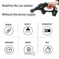 Cordless High Pressure Water Cleaner Sprayer Electric Washer Spray Gun Battery