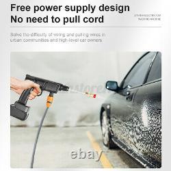 Cordless High Pressure Water Pump Car Washer Portable Electric Gun Spray Hose