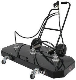 Erie Tools 60 Hot Cold Water Pressure Washer Flat Surface Cleaner with Wheels
