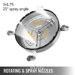 Flat Surface Cleaner 18 Stainless Steel Hot Cold Water Pressure Washer Wheels