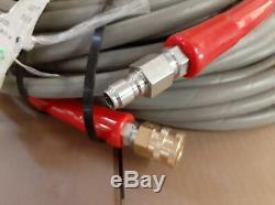 Flextral SuperJet 100' Hot Water Pressure Washer Hose 2 Wire 6000 PSI 3/8