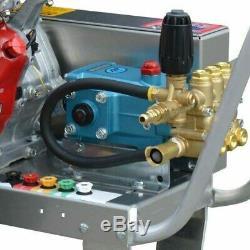 Gas Pressure Washer Cold Water 4000 PSI 13 HP Honda Engine Belt Drive