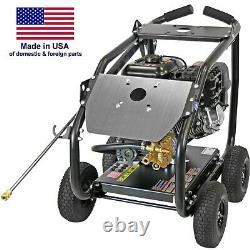 Gas Pressure Washer Cold Water 4400 PSI 4 GPM AAA Pump Roll Cage