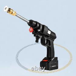High Pressure Cordless Car Washer Spray Gun Water Cleaner With Hose 24V Battery