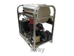 Hot/Cold Water Pressure Washer-10gpm/3500psi-new-SS Frame/Panels