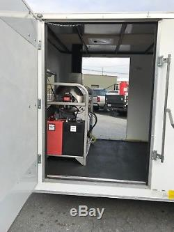 Hot Water Pressure Washer Enclosed Trailer Mounted-8gpm, 4000psi-Honda GX690