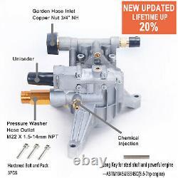 NEW Premium Cold Water -Pressure Washer PUMP -2600-2700 PSI 2.4 GPM +Key
