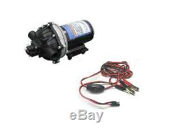 New 4.0 GPM 60 psi 12 Volt Diaphragm ON Demand WATER PUMP with Wire Power Harness