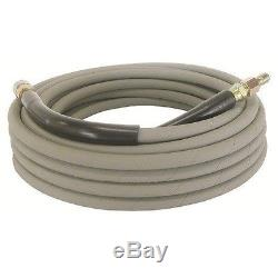 Non Marking Gray Pressure Washer Hose 50' witho Couplers 6000 PSI Hot Water