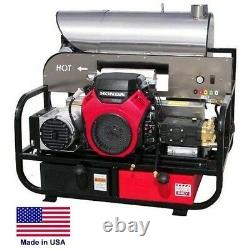 PRESSURE WASHER Hot Water Skid Mounted 5.5 GPM 4000 PSI 22 Hp Honda 115V