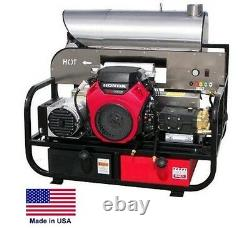 PRESSURE WASHER Hot Water Skid Mounted 7 GPM 3500 PSI 22 Hp Honda 115V