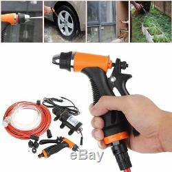 Portable 12V 70W Water Pump Car Washer Electric High Pressure Water Gun Kit