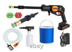 Portable 20V Cordless Car Wash Hose Set High Pressure Watering Gun Spray Pump
