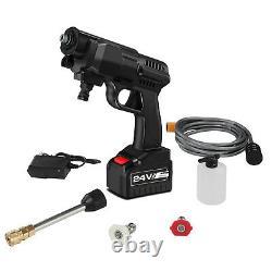 Portable 24V Cordless Car Wash Hose Set High Pressure Watering Gun Nozzle Pump