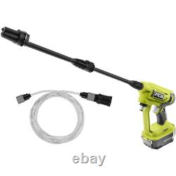 Portable Cordless Power Pressure Cleaner Adjustable Nozzle Light Duty Cold Water