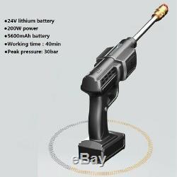 Portable Electric Cordless Car Wash Hose Set High Pressure Watering Nozzle Gun