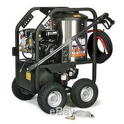 Portable Hot Water Pressure Washer Gas 2,400 PSI 2.7 GPM 12V DC Burner