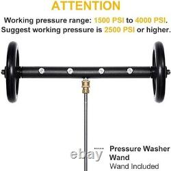 Pressure Washer Undercarriage Cleaner Under Car Washer, Water Broom, Dual Surf