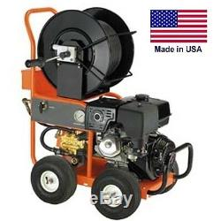 Pressure Washer & Water Jetter Drain & Sewer Gas 4 GPM 3,000 PSI 13 HP