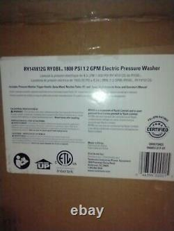 RYOBI 1,800 PSI 1.2 GPM Cold Water Electric Pressure Washer Lightweight Compact
