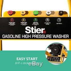 STIER Petrol High Pressure Washer Gun Water Cleaner 8HP 3950PSI Gurney20M HoseEU