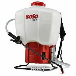 Solo 417 Backpack Rechargeable Chemical and Water Pressure Sprayer 27l