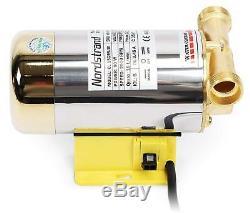 Stainless Steel Water Pressure Booster Pump Shower Home Garden Washing Machine