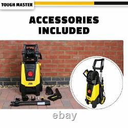 TOUGH MASTER Electric High Pressure Pressure Washer 160 Bar Water Wash Patio Car