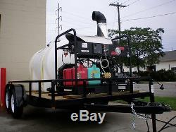 Trailer Mounted Hot Cold Water Pressure Washer, Portable Cleaning Equipment