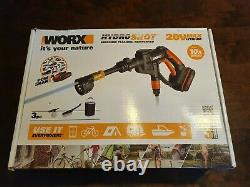 WORX WG629E. 1 Hydroshot 20V Max Lithium Portable Power Cleaner & Water Sprayer