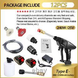 0-15000mah 30bar Wireless Electric Machine À Laver Les Voitures À Haute Pression