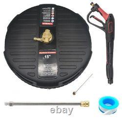 15 Nettoyeur De Surface De Lave-pression Avec Extension Baguette +gun Quick Connect 4000 Psi