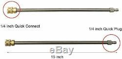 15 Nettoyeur Haute Pression Nettoyeur De Surface Avec 2 Extension Baguette & Gun 4000 Psi Trigger