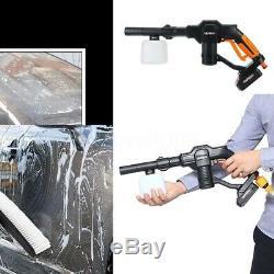 18v 130psi Sans Fil Haute Pression Nettoyeur De Voiture Laveuse Pistolet D'eau 5 M Tuyau Extérieur
