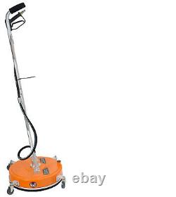 20 Polypropylène Flat Surface Cleaner Hot Cold Water Pressure Washer / Wheels