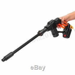 20v Sans Fil Cleaner Laveuse À Pression Pistolet Tuyau D'eau Buse Kit + Batterie / Chargeur