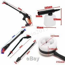 20v Sans Fil Cleaner Nettoyeur Haute Pression Pistolet Tuyau D'eau Kit De Buse + Batterie / Chargeur