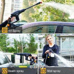 21v Sans Fil Nettoyeur Haute Pression Nettoyeur Voiture Tuyau D'eau Buse Kit + Batterie / Chargeur